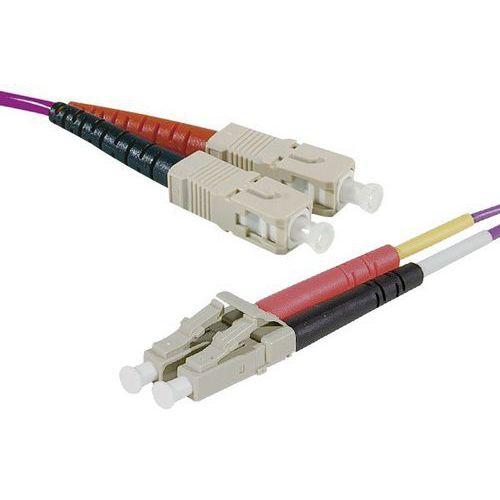 Jarretière duplex multi OM4 50/125 SC-UPC/LC-UPC erika 0,5 m