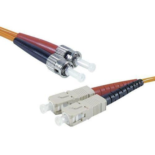 Jarretière duplex 2.0 mm multi OM1 62,5/125 ST-UPC/SC-UPC 3m