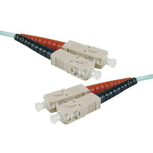 Jarretière duplex 2.0 mm multi OM3 50/125 SC-UPC/SC-UPC 5 m