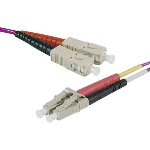 Jarretière duplex 2.0 mm multi OM4 50/125 SC-UPC/LC-UPC 5 m