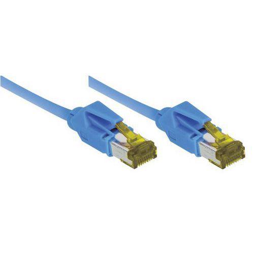 Cordon RJ45 sur câble catégorie 7 S/FTP LSOH bleu - 1 m
