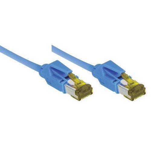 Cordon RJ45 sur câble catégorie 7 S/FTP LSOH bleu - 3 m