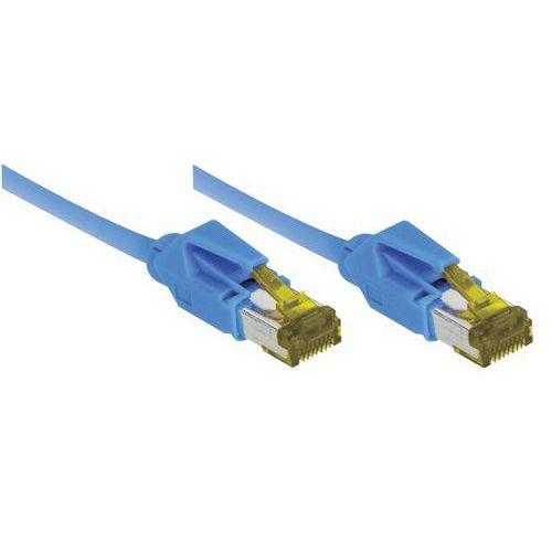Cordon RJ45 sur câble catégorie 7 S/FTP LSOH bleu - 5 m