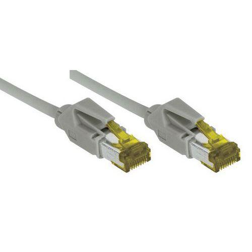 Cordon RJ45 sur câble catégorie 7 S/FTP LSOH gris - 0,5 m