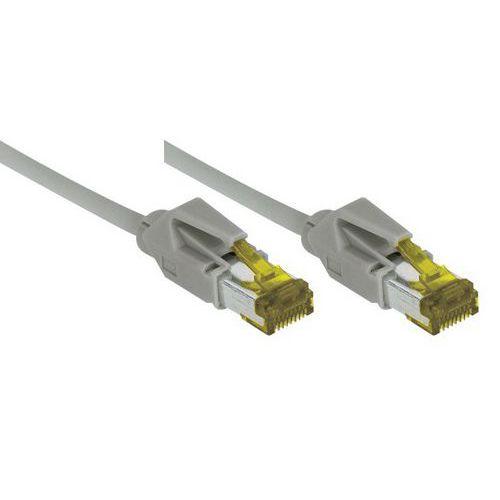 Cordon RJ45 sur câble catégorie 7 S/FTP LSOH gris - 10 m