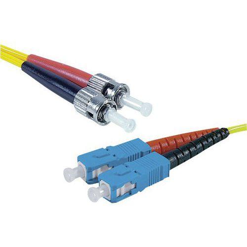 Jarretière duplex mono OS2 9/125 SC-UPC/ST-UPC jaune - 5 m