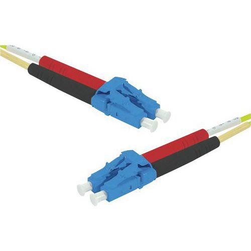 Jarretière duplex mono OS2 9/125 LC-UPC/LC-UPC jaune - 20 m