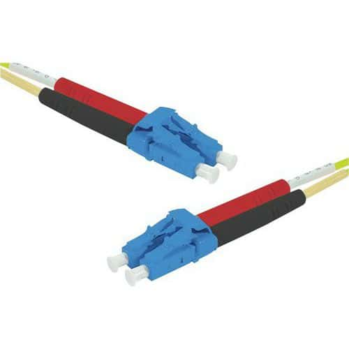 Jarretière duplex mono OS2 9/125 LC-UPC/LC-UPC jaune - 3 m