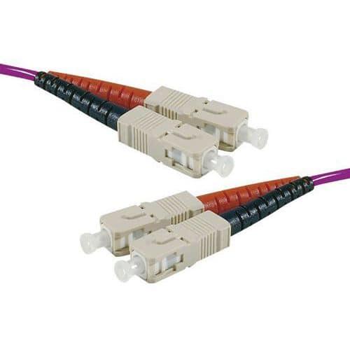 Jarretière duplex 2.0 mm multi OM4 50/125 SC-UPC/SC-UPC 5 m