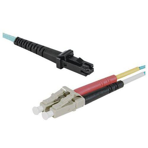 Jarretière duplex multi OM3 50/125 MTRJ-UPC/LC-UPC aqua -3 m