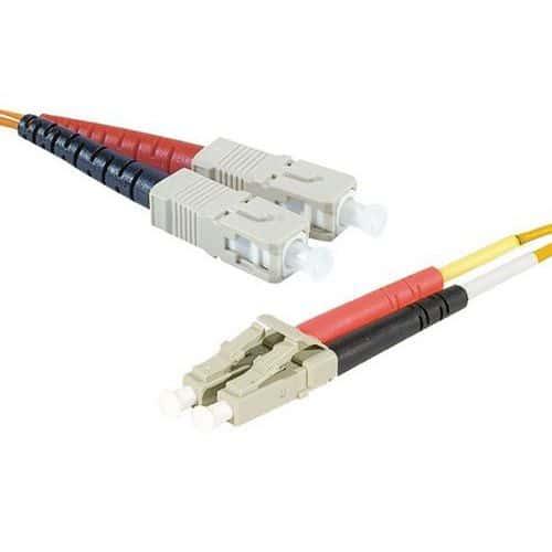 Jarretière duplex 2.0 mm multi OM2 50/125 LC-UPC/ST-UPC 1 m