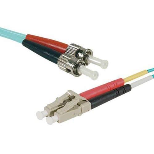 Jarretière duplex 2.0 mm multi OM3 50/125 LC-UPC/ST-UPC 1 m