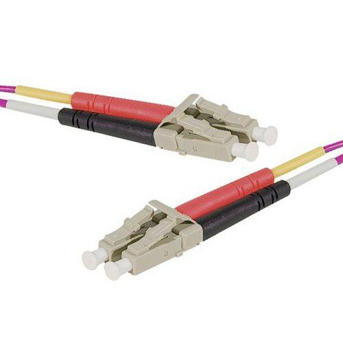 Jarretière duplex 2.0 mm multi OM4 50/125 LC-UPC/LC-UPC 1 m