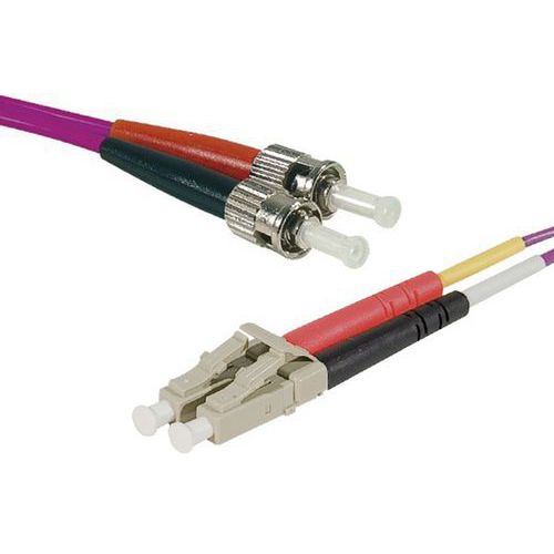 Jarretière duplex 2.0 mm multi OM4 50/125 LC-UPC/ST-UPC 1 m