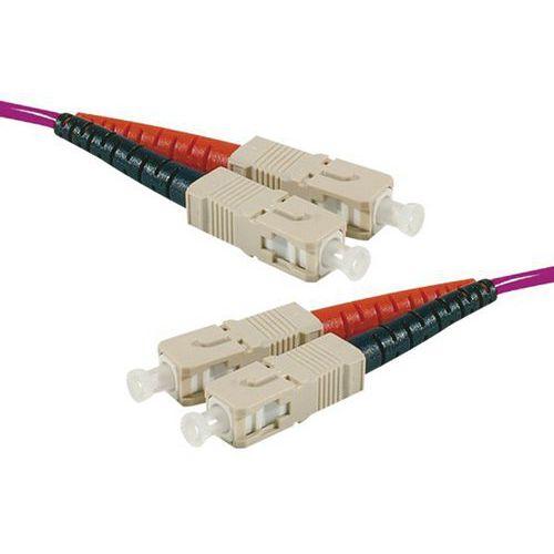 Jarretière duplex 2.0 mm multi OM4 50/125 SC-UPC/SC-UPC 1 m