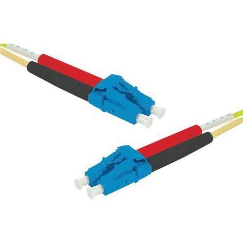 Jarretière duplex mono OS2 9/125 LC-UPC/LC-UPC jaune - 50 m