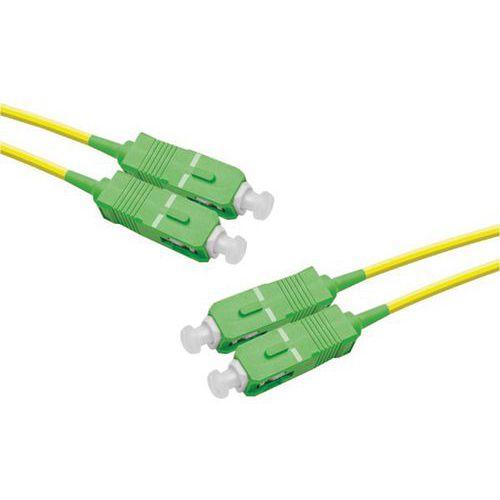 Jarretière duplex mono OS2 9/125 SC-APC/SC-APC jaune - 1 m