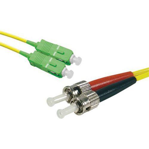 Jarretière duplex mono OS2 9/125 SC-APC/ST-UPC jaune - 5 m