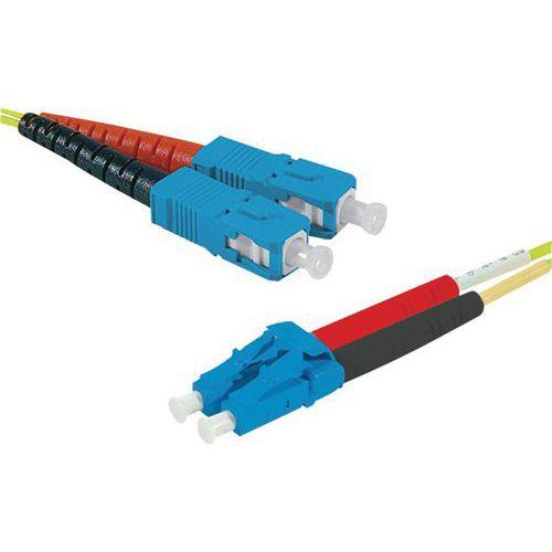 Jarretière duplex mono OS2 9/125 SC-UPC/LC-UPC jaune - 1 m