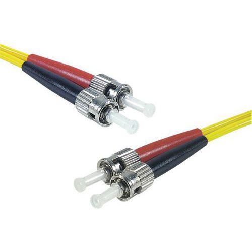 Jarretière duplex mono OS2 9/125 ST-UPC/ST-UPC jaune - 8 m