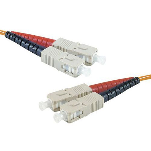 Jarretière duplex multi OM1 62,5/125 SC-UPC/SC-UPC 2 m