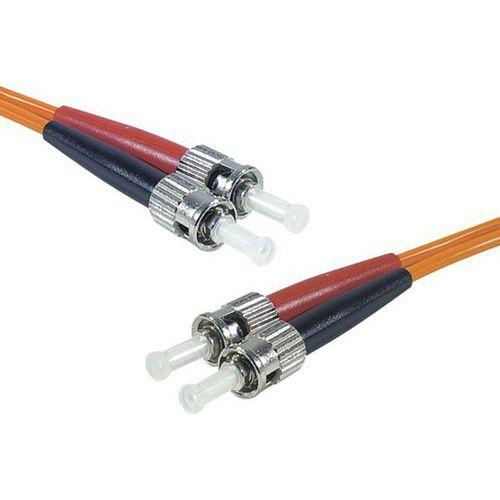 Jarretière duplex multi OM2 50/125 ST-UPC/ST-UPC orange -1 m