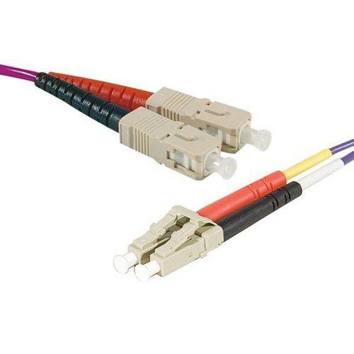 Jarretière duplex multi OM3 50/125 SC-UPC/LC-UPC violet 15 m