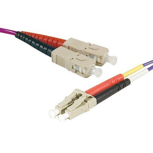 Jarretière duplex multi OM3 50/125 SC-UPC/LC-UPC violet -5 m