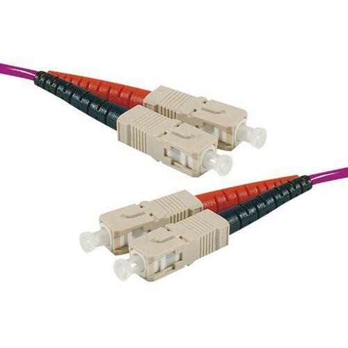 Jarretière duplex multi OM3 50/125 SC-UPC/SC-UPC violet -1 m