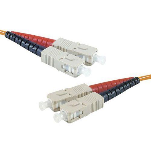 Jarretière duplex multi OM3 50/125 SC-UPC/SC-UPC violet -5 m
