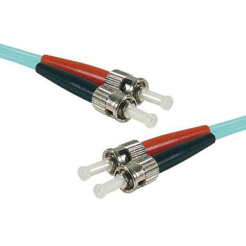 Jarretière duplex multi OM3 50/125 ST-UPC/ST-UPC aqua - 1 m