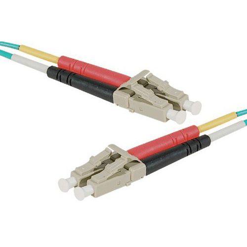 Jarretière duplex multi OM4 50/125 LC-UPC/LC-UPC aqua - 1 m