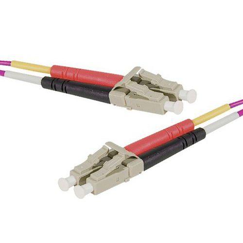 Jarretière duplex multi OM4 50/125 LC-UPC/LC-UPC erika - 1 m
