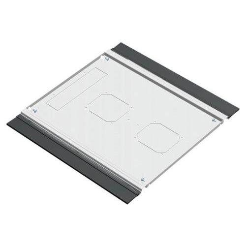 Plaque de fond avec balai passe cables 600X600