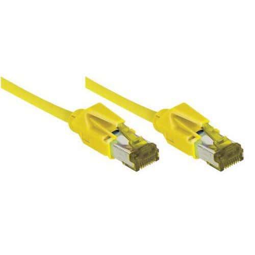 Cordon RJ45 sur câble catégorie 7 S/FTP LSOH jaune - 0,5 m