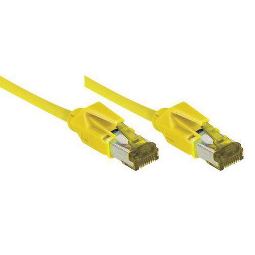 Cordon RJ45 sur câble catégorie 7 S/FTP LSOH jaune - 1,5 m