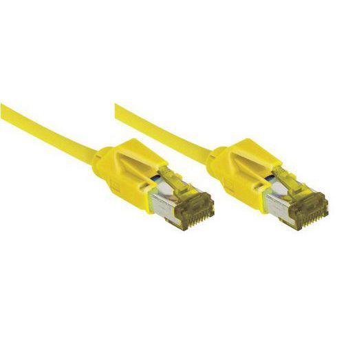 Cordon RJ45 sur câble catégorie 7 S/FTP LSOH jaune - 2 m