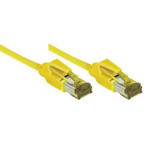 Cordon RJ45 sur câble catégorie 7 S/FTP LSOH jaune - 20 m