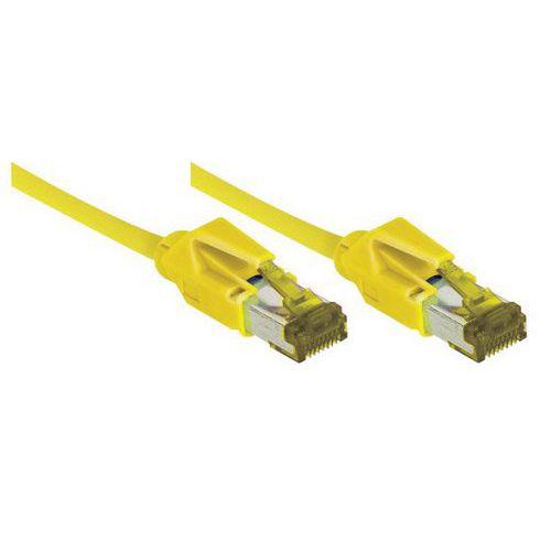 Cordon RJ45 sur câble catégorie 7 S/FTP LSOH jaune - 5 m