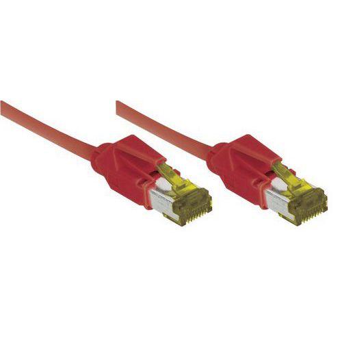 Cordon RJ45 sur câble catégorie 7 S/FTP LSOH rouge - 0,5 m