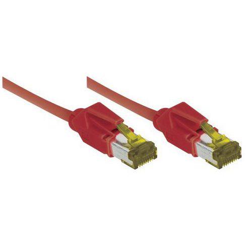 Cordon RJ45 sur câble catégorie 7 S/FTP LSOH rouge - 1,5 m