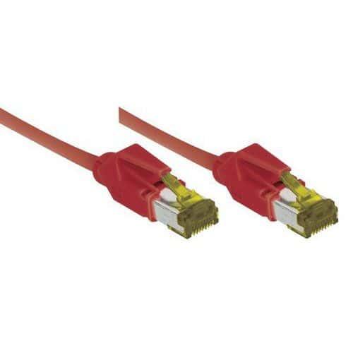 Cordon RJ45 sur câble catégorie 7 S/FTP LSOH rouge - 10 m