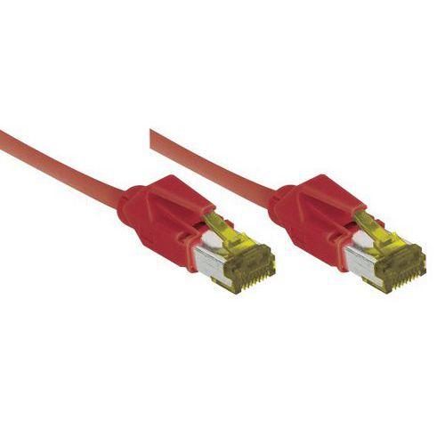 Cordon RJ45 sur câble catégorie 7 S/FTP LSOH rouge - 2 m