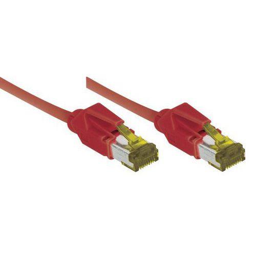 Cordon RJ45 sur câble catégorie 7 S/FTP LSOH rouge - 3 m