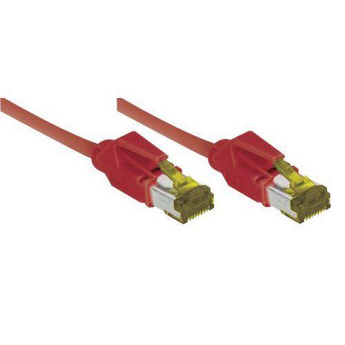 Cordon RJ45 sur câble catégorie 7 S/FTP LSOH rouge - 5 m