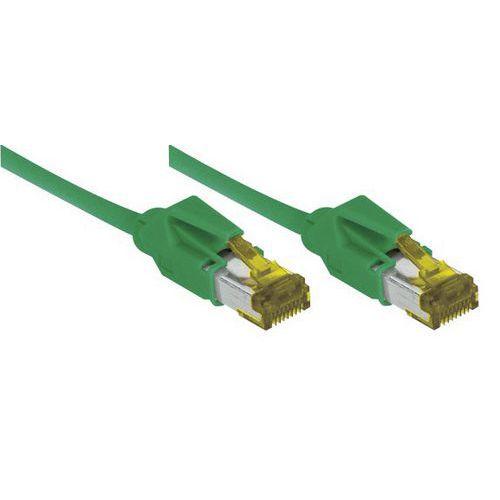 Cordon RJ45 sur câble catégorie 7 S/FTP LSOH vert - 1 m