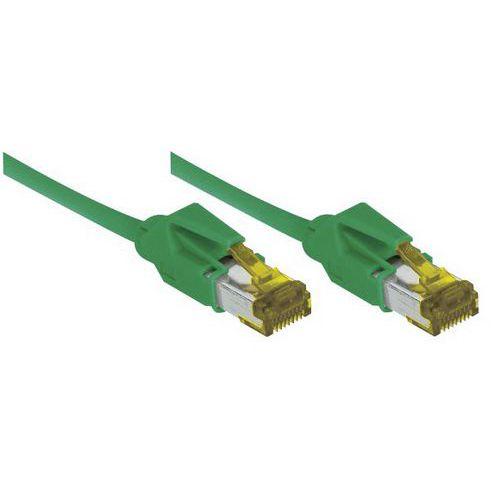 Cordon RJ45 sur câble catégorie 7 S/FTP LSOH vert - 2 m
