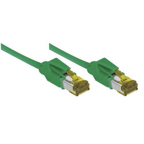 Cordon RJ45 sur câble catégorie 7 S/FTP LSOH vert - 20 m