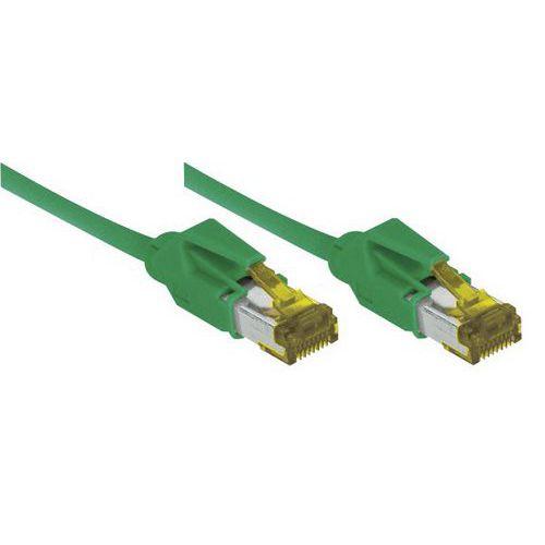 Cordon RJ45 sur câble catégorie 7 S/FTP LSOH vert - 5 m