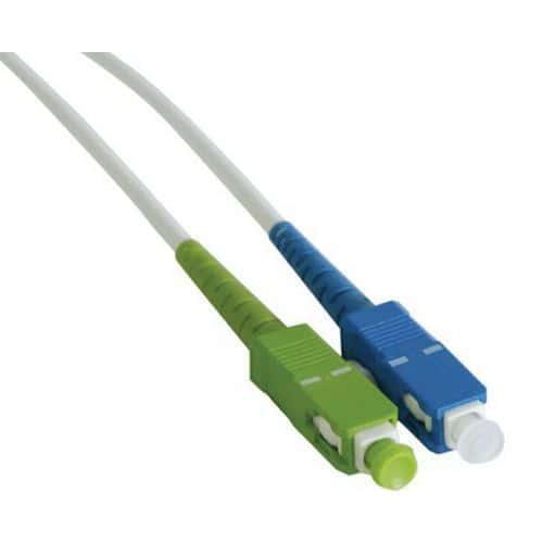 Jarretière simplex mono OS2 9/125 SC-APC/SC-UPC blanc - 15 m